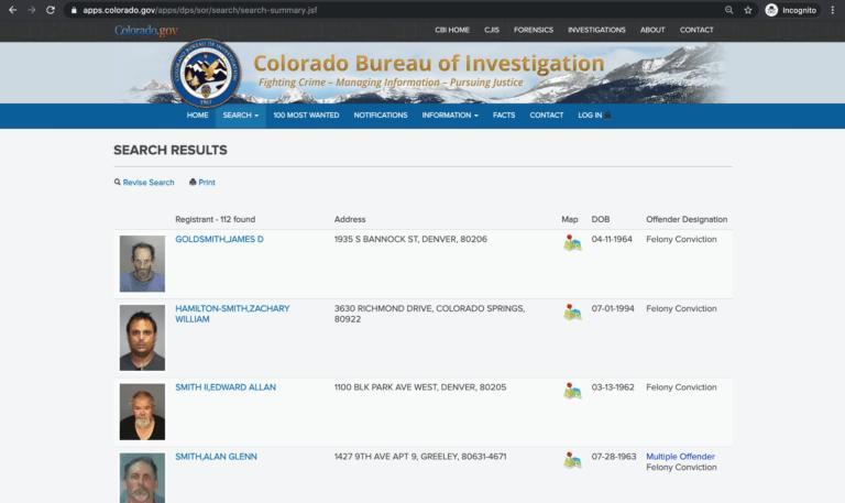 Colorado Sex Offender Search 3