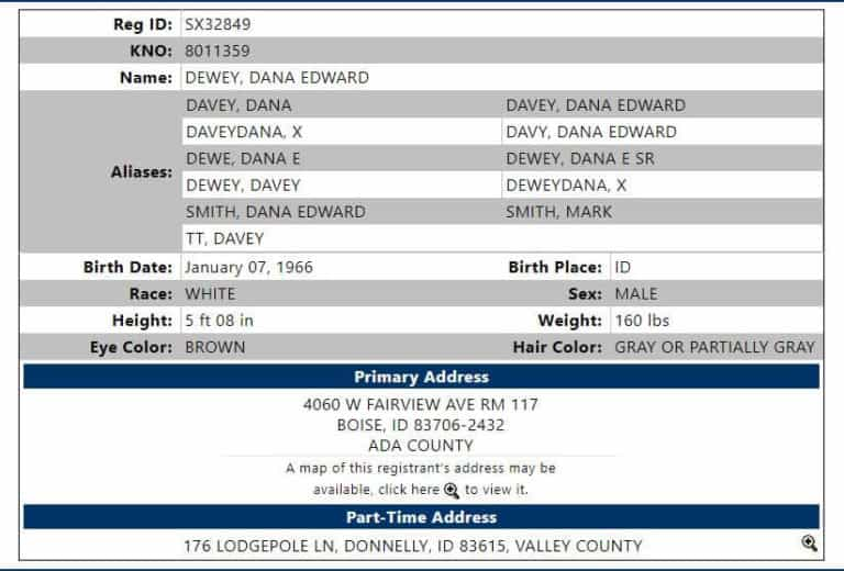 Idaho Sex Offender Search 4