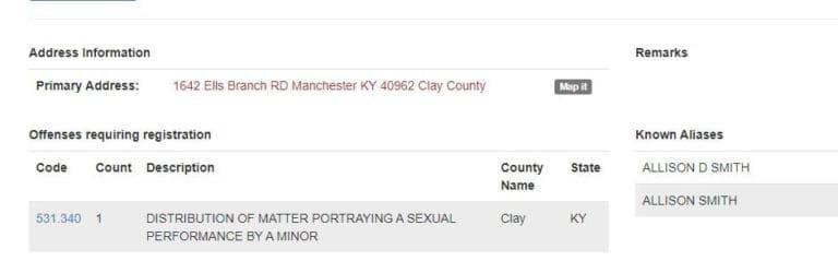 Kentucky Sex Offender Search 4