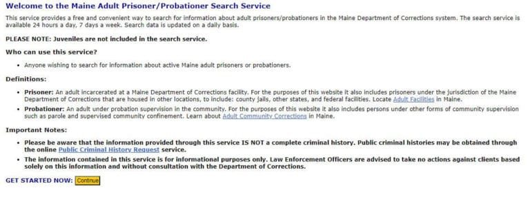 Maine DOC Inmate Search 2