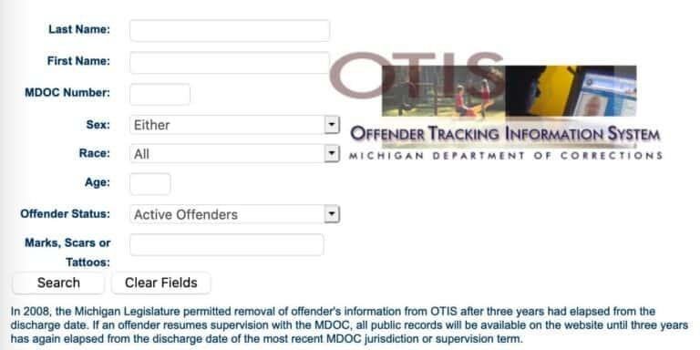 Michigan DOC Inmate Search 2