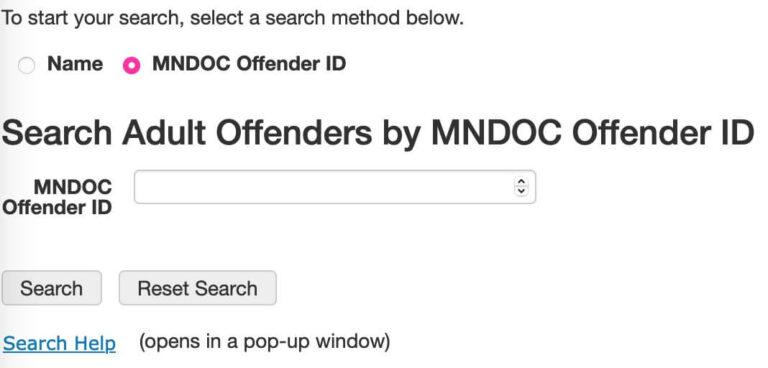 Minnesota DOC Inmate Search 2-2