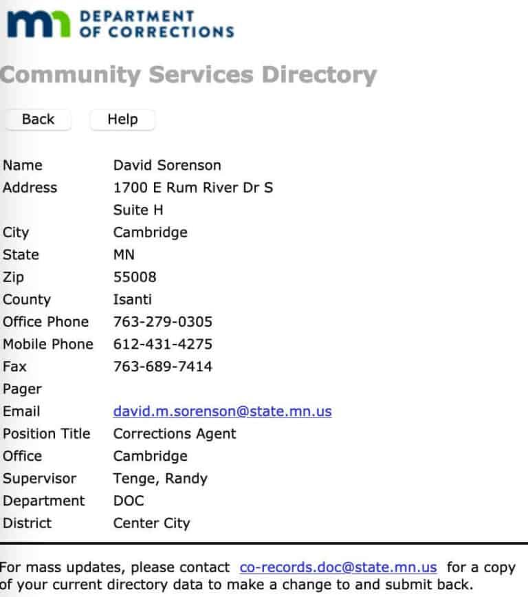 Minnesota DOC Inmate Search 5
