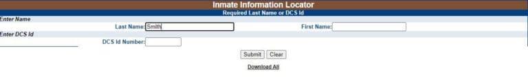 Nebraska DOC Inmate Search 2