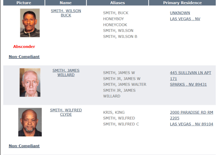 Nevada Sex Offender Search 4