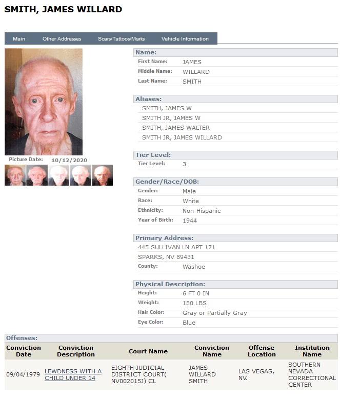 Nevada Sex Offender Search 5