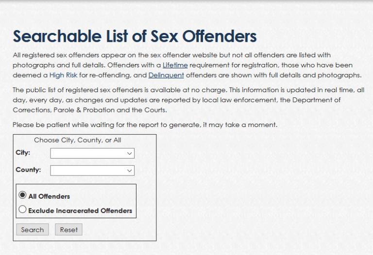 North Dakota Sex Offender Search 1