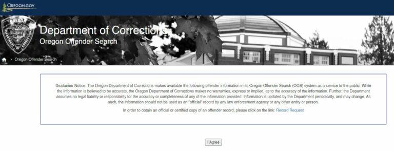 Oregon DOC Inmate Search 1