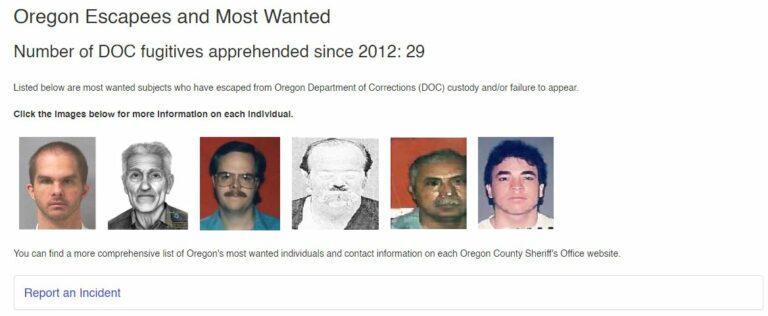 Oregon most wanted fugitives