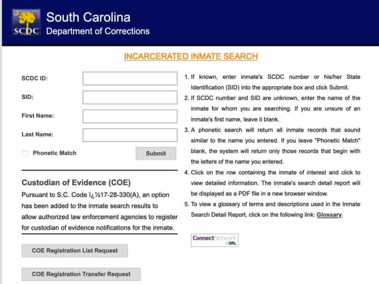 South Carolina DOC Inmate Search 2