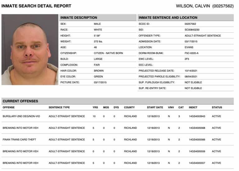 South Carolina DOC Inmate Search 4