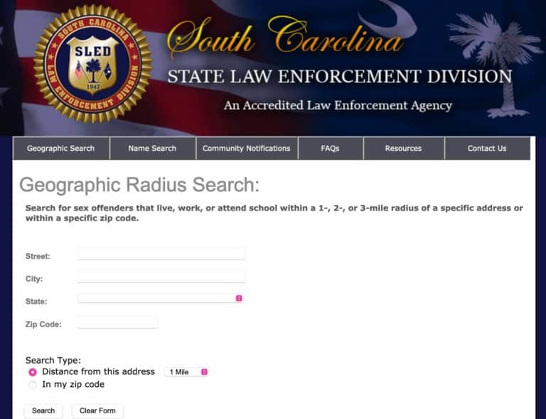 South Carolina Sex Offender Search 1