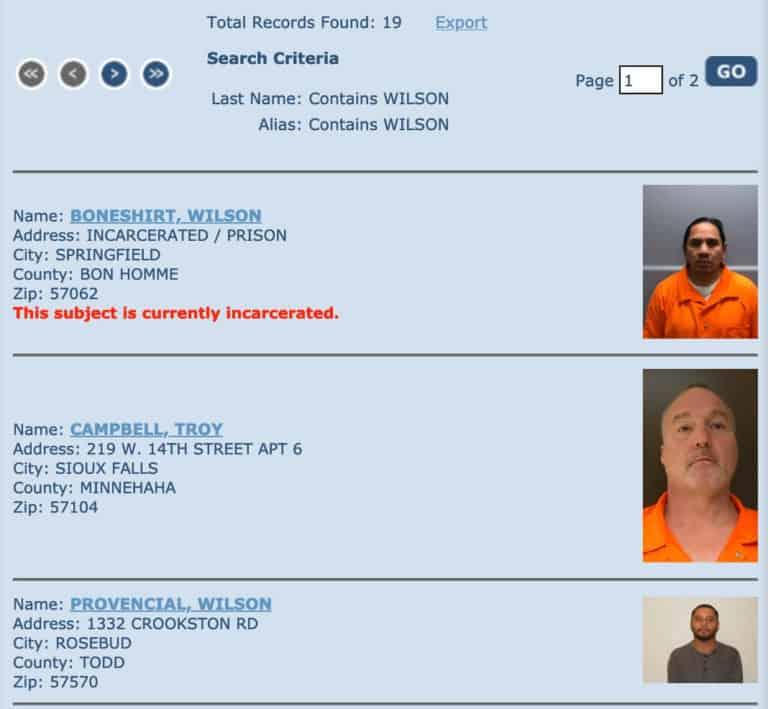 South Dakota Sex Offender Search 2