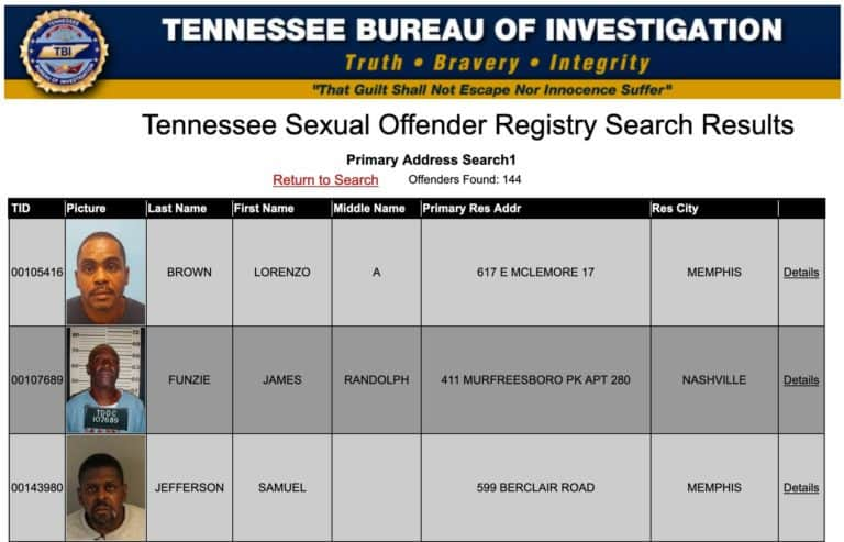 Tennessee Sex Offender Search 2