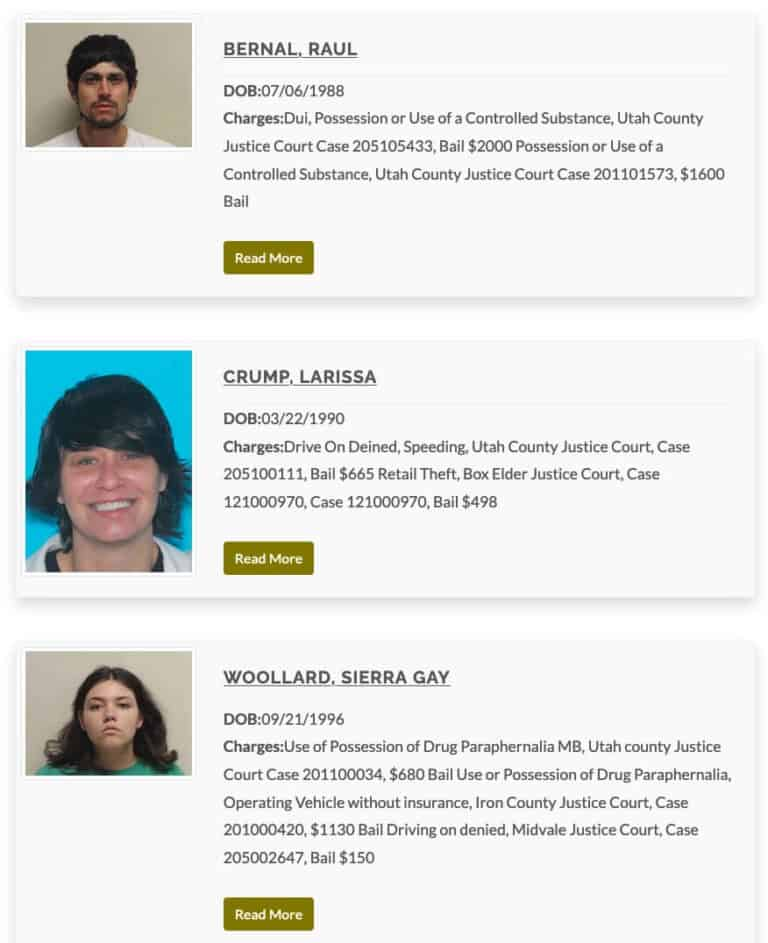Utah County's Most Wanted Fugitives 1