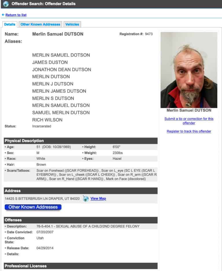 Utah Sex Offender Search 4