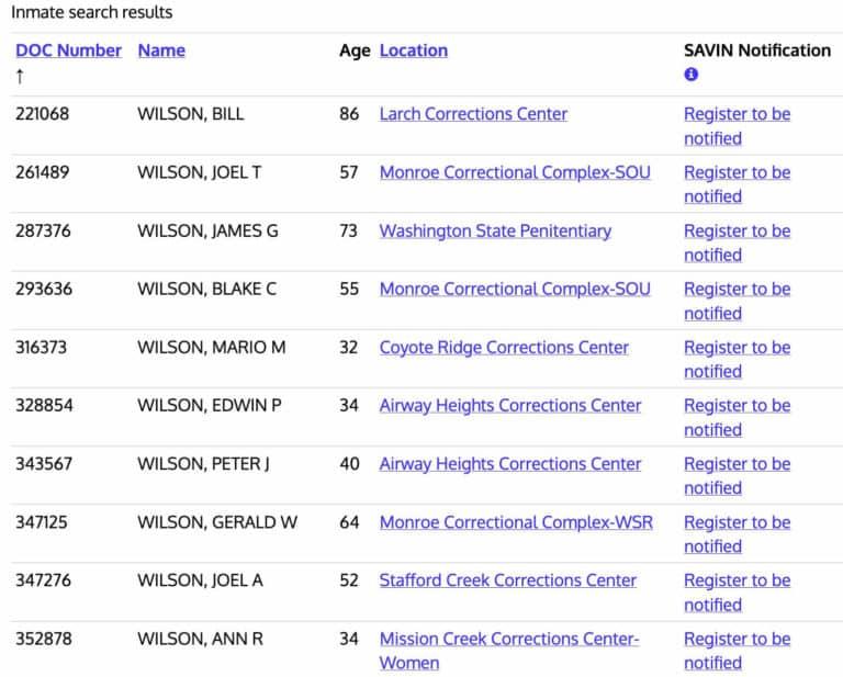 Washington DOC Inmate Search 3