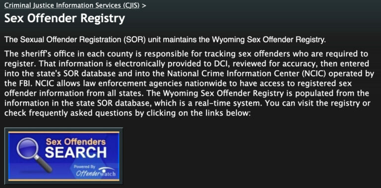 Wyoming Sex Offender Search 1