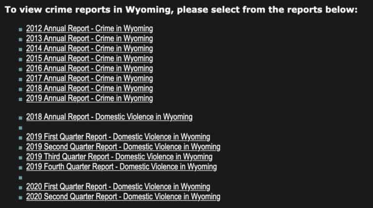 Wyoming's Crime Statistics