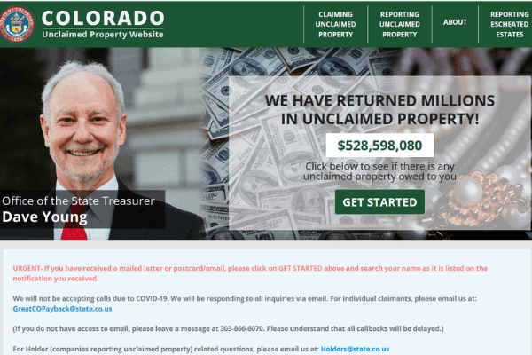 Colorado Unclaimed Property Search