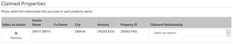 File for Your Money in Nebraska Step 1