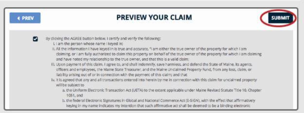 Filing a Claim in Maine Step 2