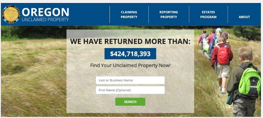 Find Unclaimed Money in Oregon