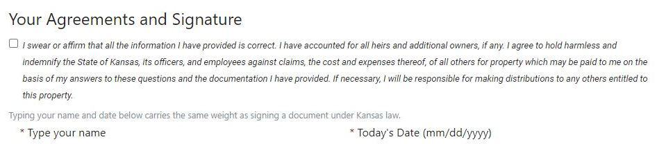 Guide to Filing a Kansas Claim Step 4