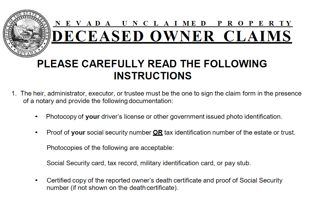 How Can You File a Claim for a Deceased Owner