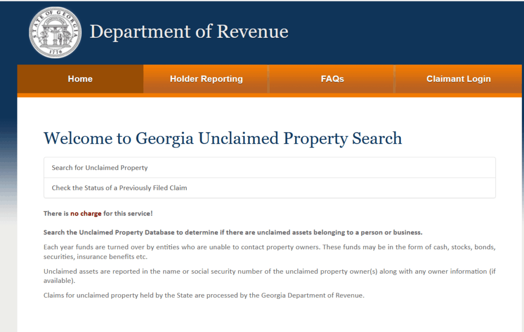 How to Find Georgia Unclaimed Property 1