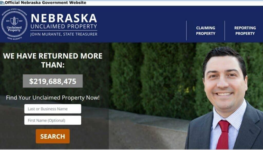 How to Find Unclaimed Money in Nebraska Step 1