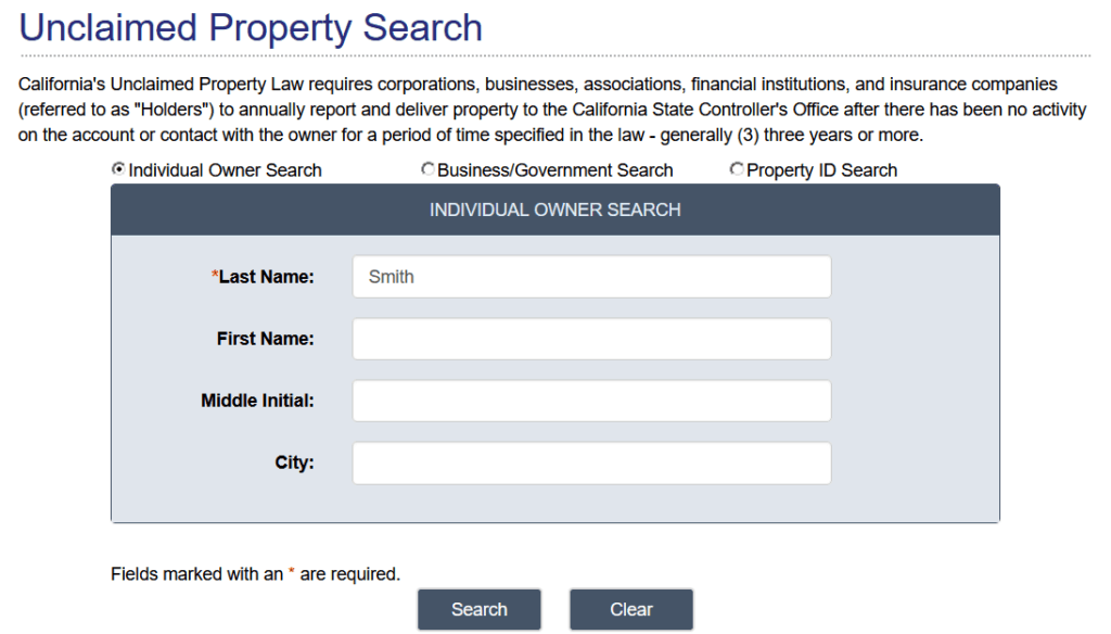 How to Find Unclaimed Property in California 2