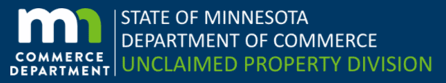 How to Use the Minnesota Unclaimed Property Search 1