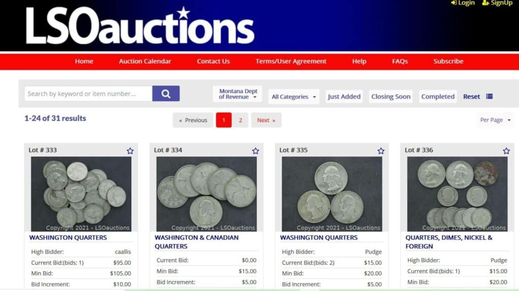 Montana Unclaimed Property Auctions