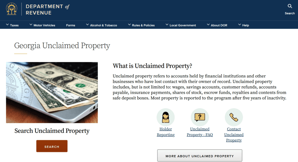 The Ultimate Guide to Unclaimed Property in Georgia
