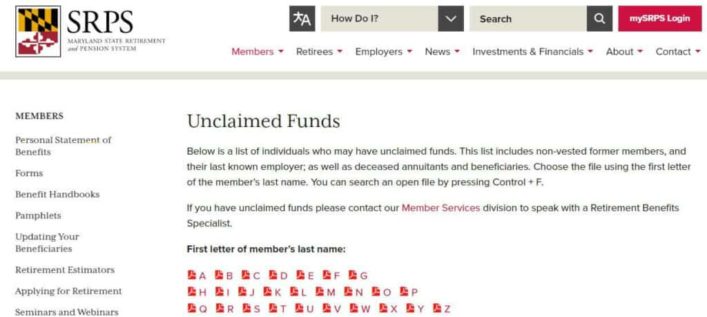 What Does Maryland Consider as Unclaimed Funds