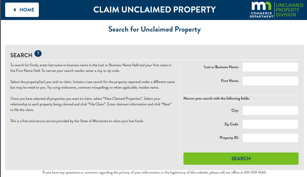 What is Unclaimed Property in Minnesota