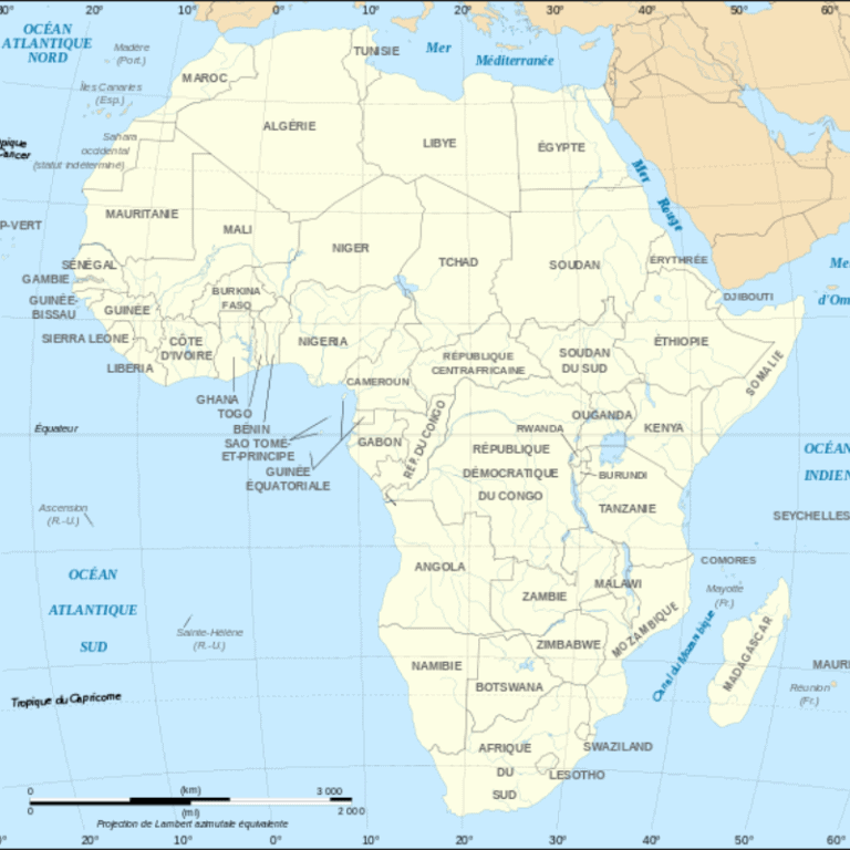 Regions in Africa