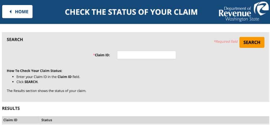 Does Washington Let You Track Filed Claims