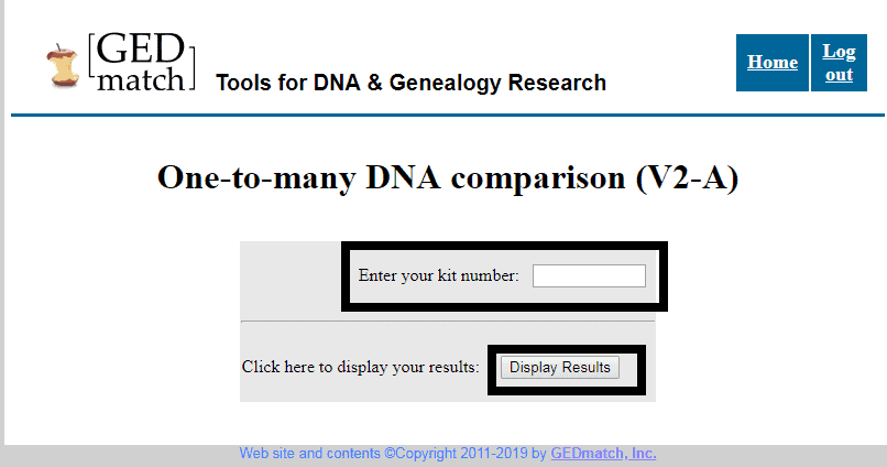 GEDMatch One-to-Many Comparison image