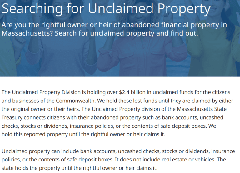 How Much Unclaimed Money is There in Massachusetts
