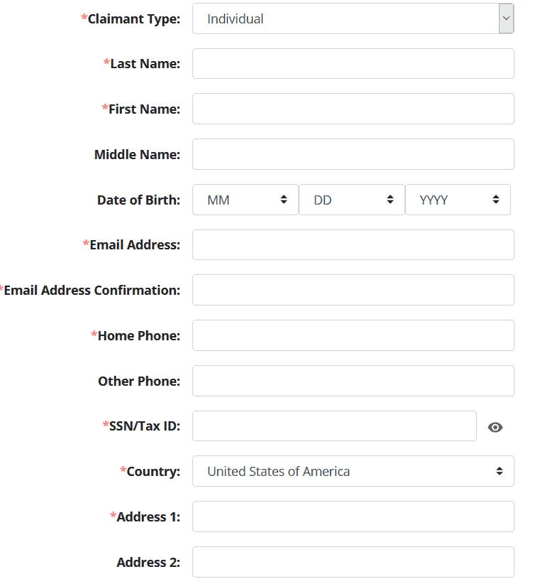 How to File Your North Dakota Claim Step 2