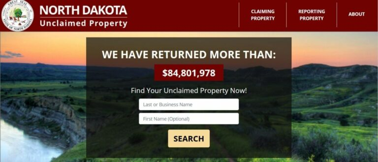 How to Find Unclaimed Money in North Dakota Step 1