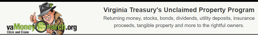 How to Find Unclaimed Money in Virginia Step 1