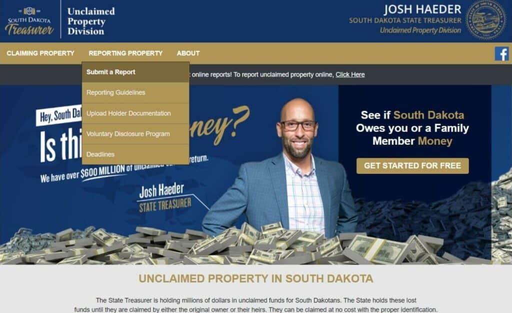 Unclaimed Money in South Dakota