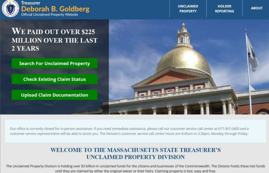 Unclaimed Property in Massachusetts