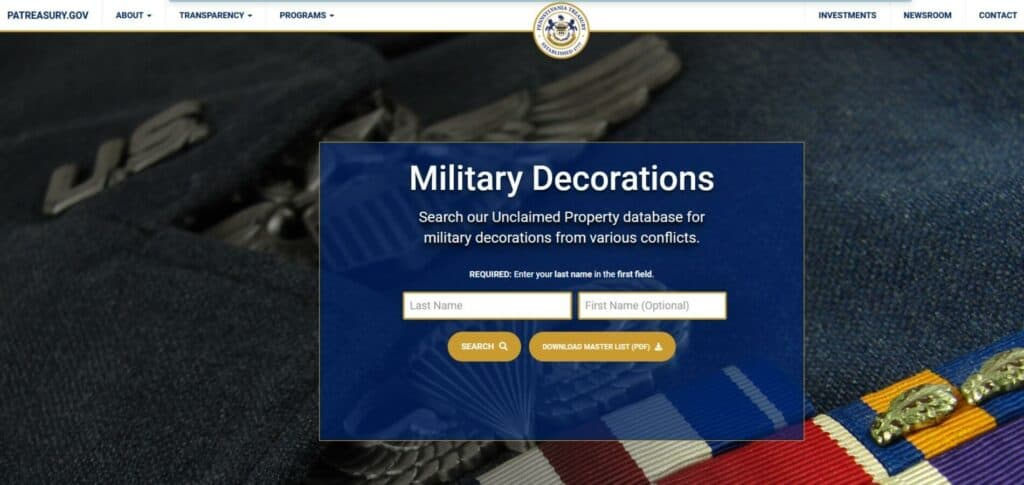 What Does the State Do with Unclaimed Military Medals