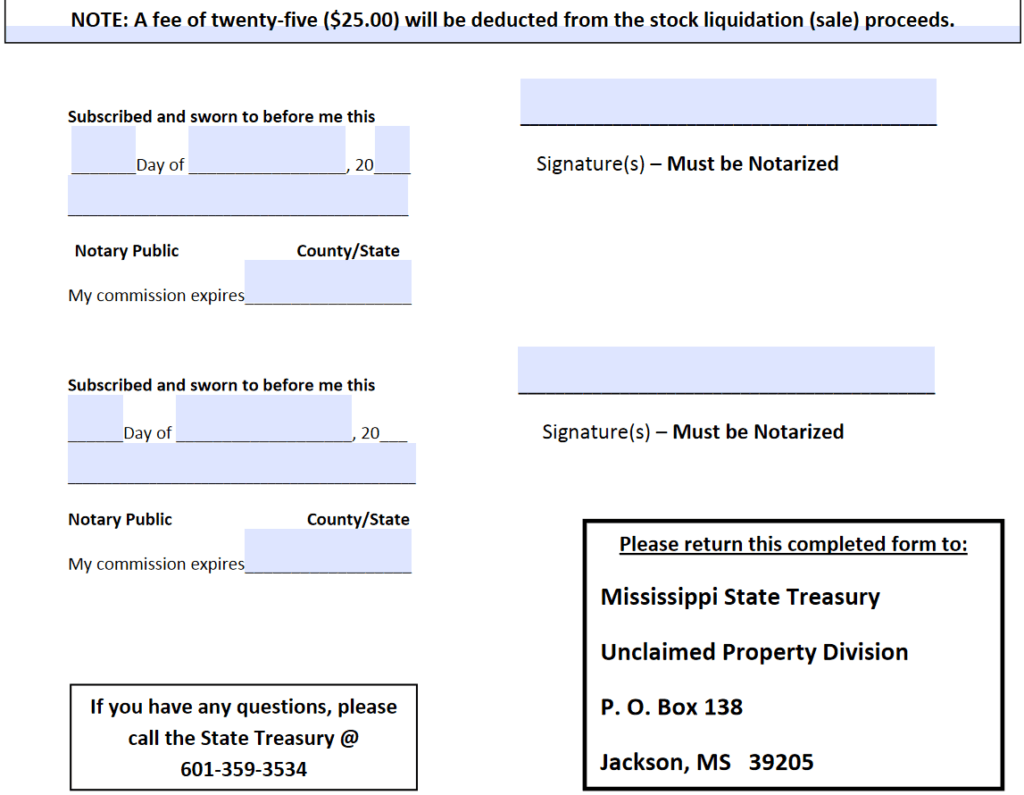 What Forms and Information Does Mississippi Require 2