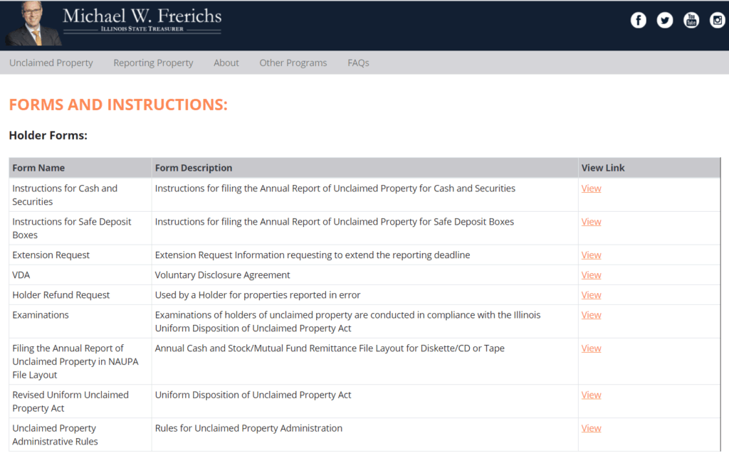 What Information Does Illinois Require for Claims