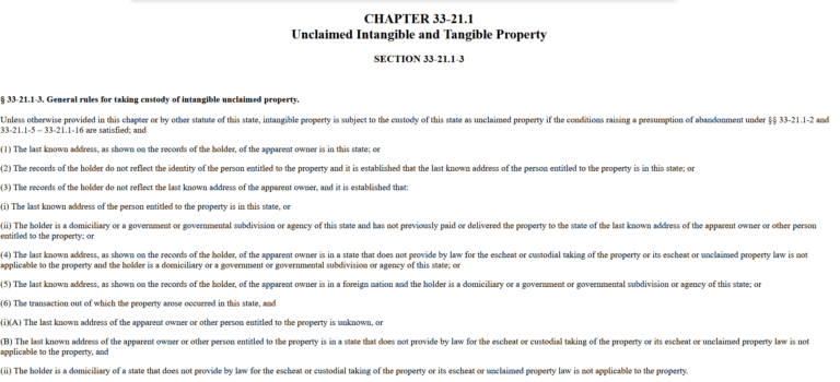 Who Can Claim Property in Rhode Island